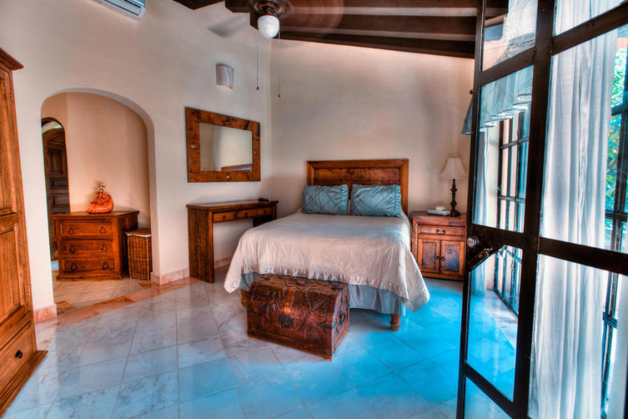 Casa Patricia features 4 luxurious and private bedroom suites. 6 full bathrooms and one 1/2 bathroom.