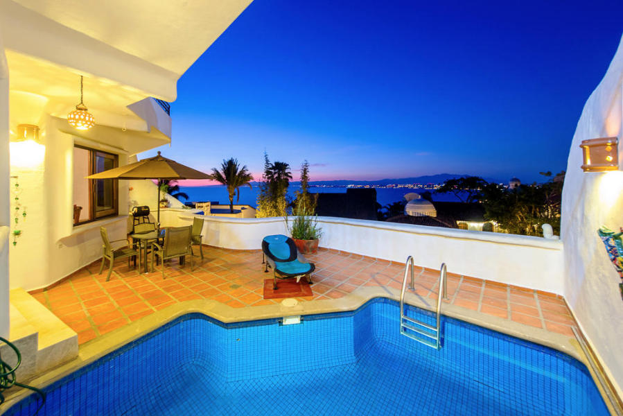 Casa Caracoles features beautiful ocean and city views.