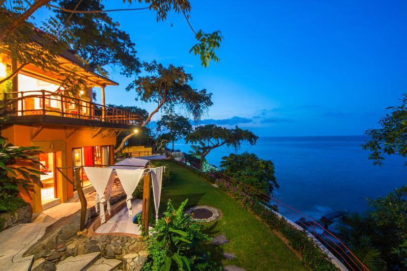 Villa Mandarinas is a stunning ocean front estate near the jungle village of Mismaloya.
