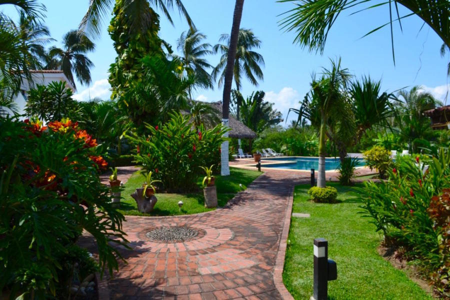 Charming condo located inside the gated community Los Peces, a small complex with only 8 units in the heart of Nuevo Vallarta.