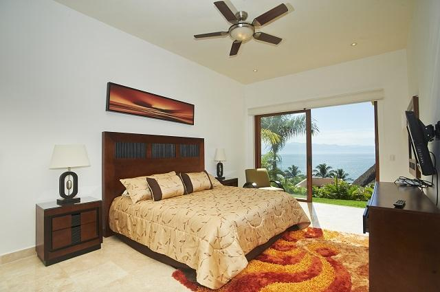 Large Terrace has lush plunge pool over looking the community beachfront and ocean.