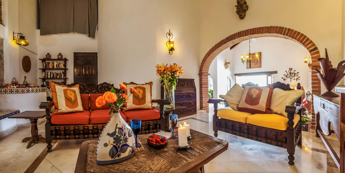 Elegant, colonial Mexican style, has all the features you'd expect from an exquisite villa.